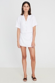 Faithfull The Brand Chaumont Shirt Plain White - Front cropped