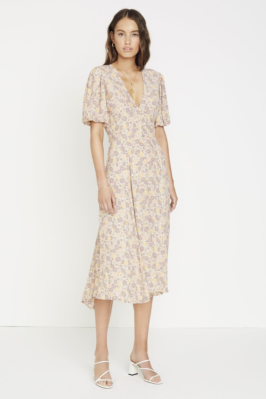 Faithfull The Brand Delia Dress Zoella - Front Cropped Image