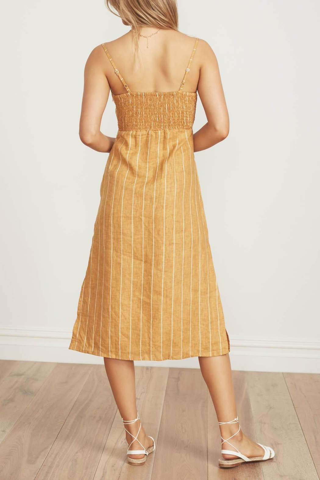Faithfull The Brand Fiscardo Midi Dress - Side Cropped Image