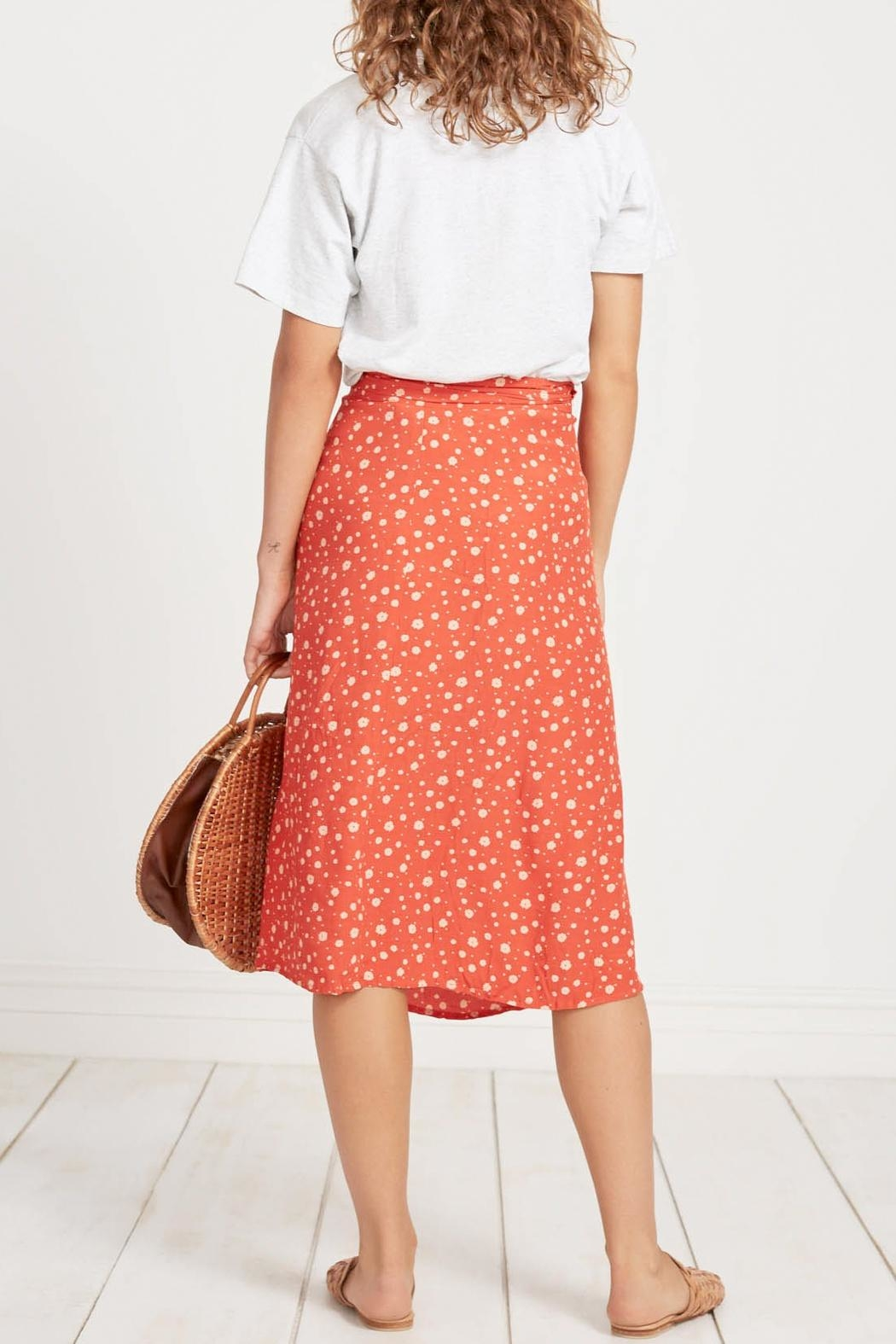 Faithfull The Brand Linnie Midi Skirt - Side Cropped Image