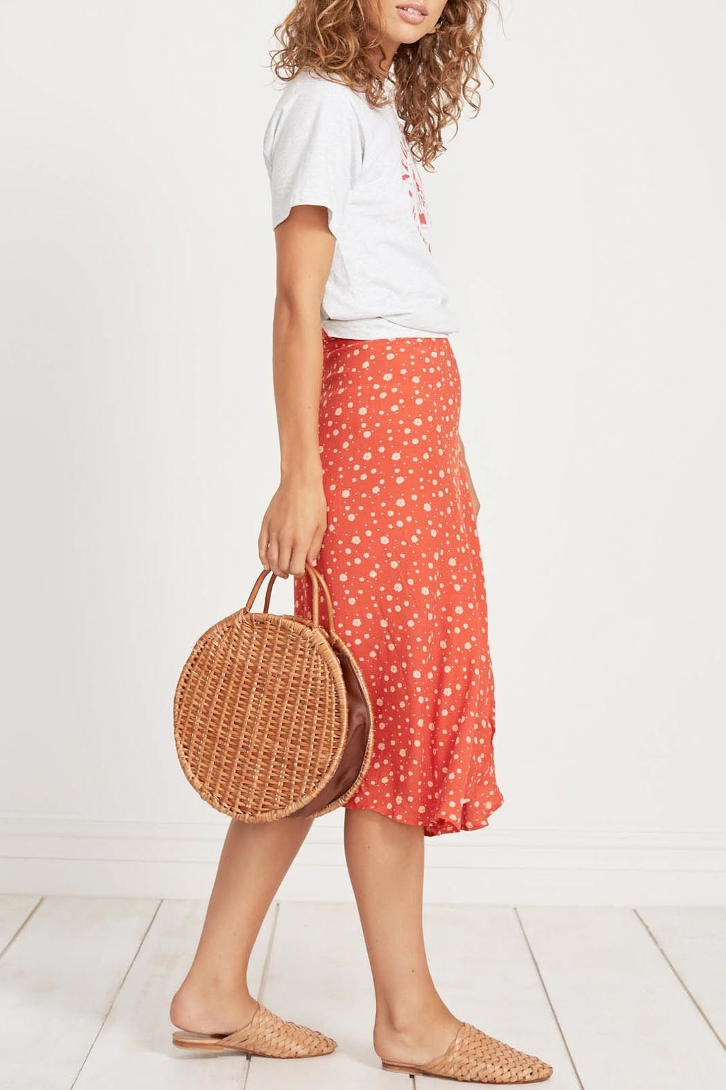 Faithfull The Brand Linnie Midi Skirt - Front Full Image
