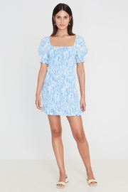 Faithfull The Brand Magnolia Mini Dress Roos Tie Dye - Blue - Product Mini Image