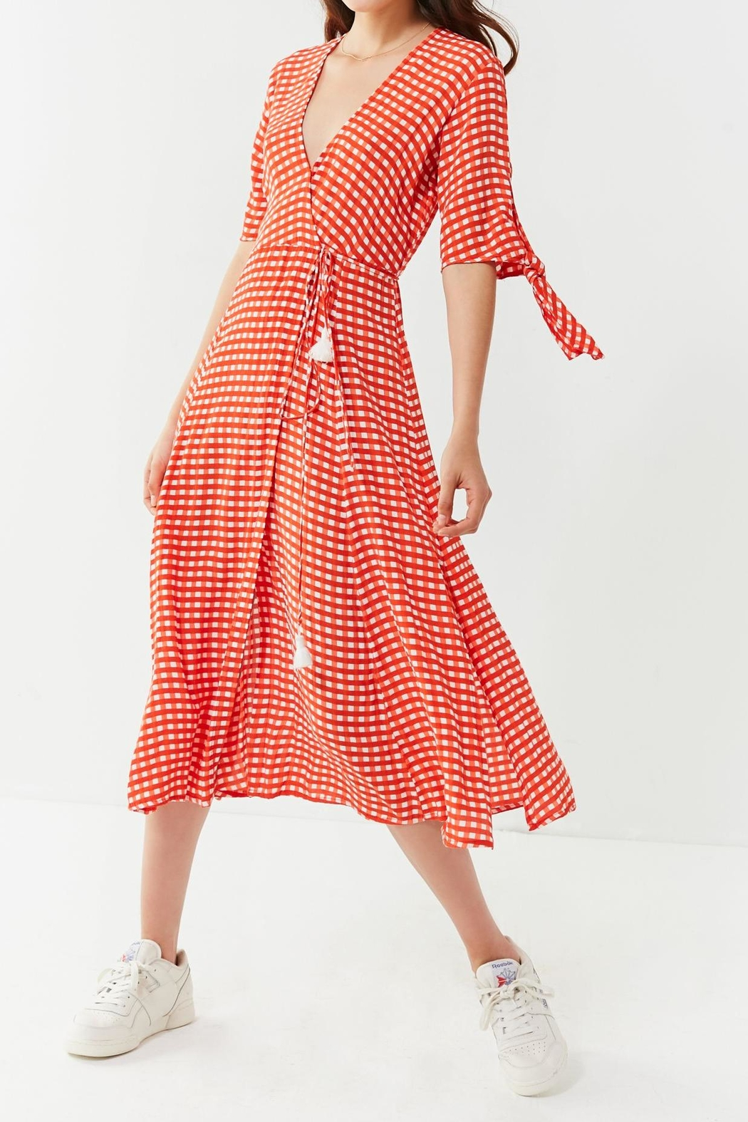 Faithfull The Brand Melodie Midi Dress - Front Cropped Image