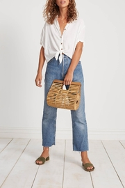 Faithfull The Brand Oversized White Buttondown - Front cropped