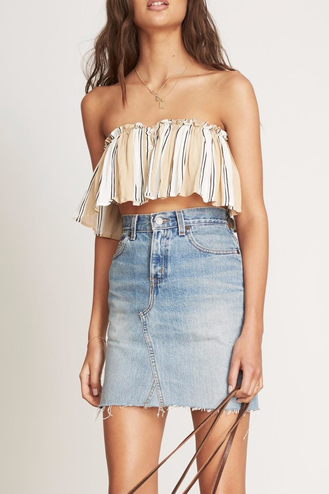 Faithfull The Brand Paradiso Stripe Crop Top - Side Cropped Image