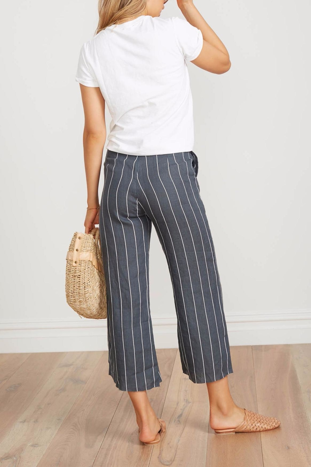Faithfull The Brand Striped Linen Culottes - Front Full Image