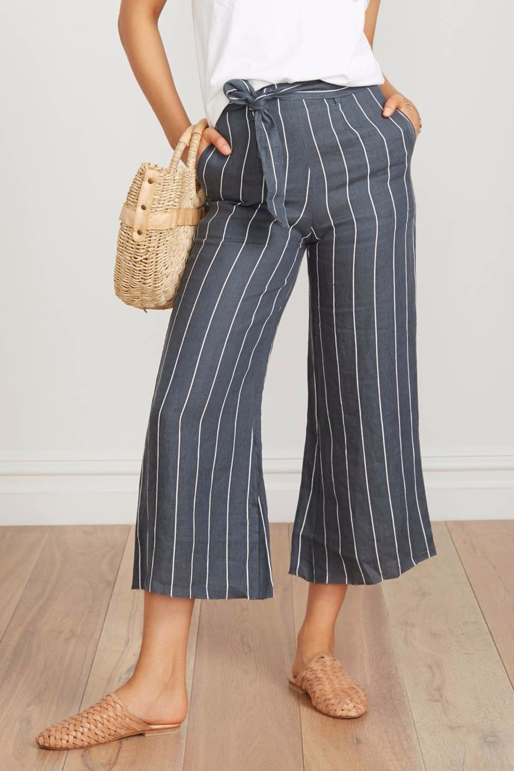 Faithfull The Brand Striped Linen Culottes - Main Image