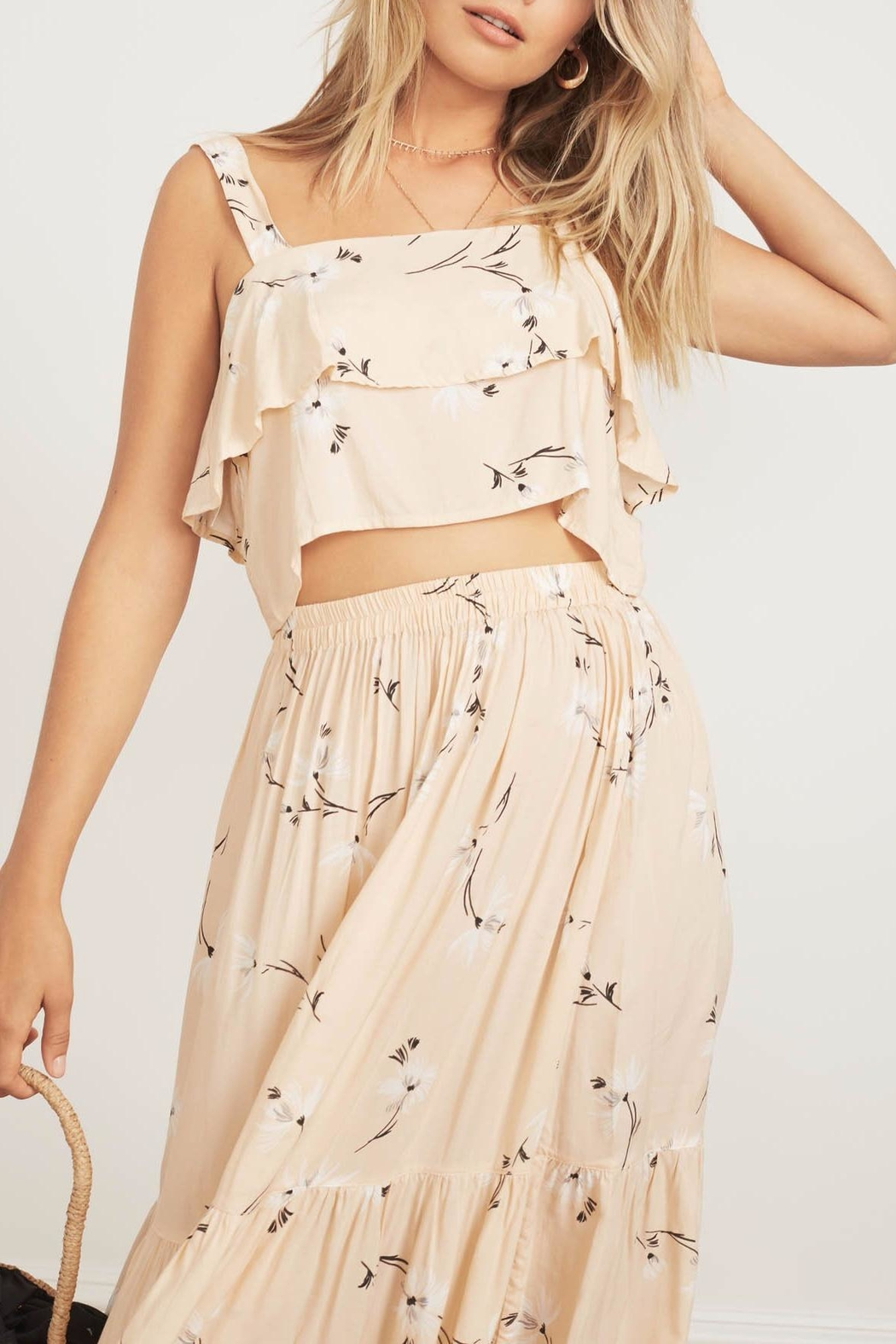 Faithfull The Brand Tiered Floral Crop - Main Image