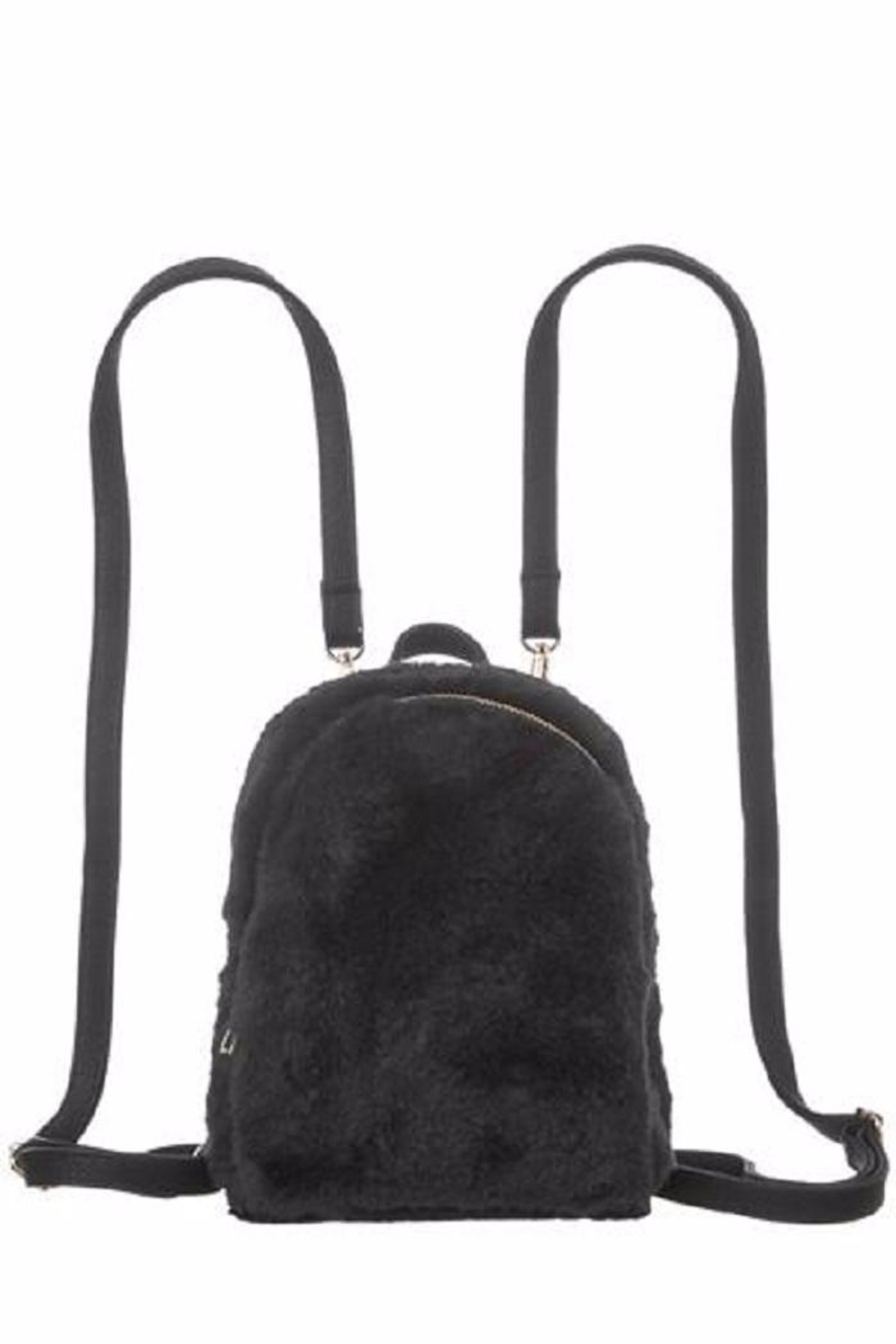 Girly Faux Fur Backpack - Front Cropped Image