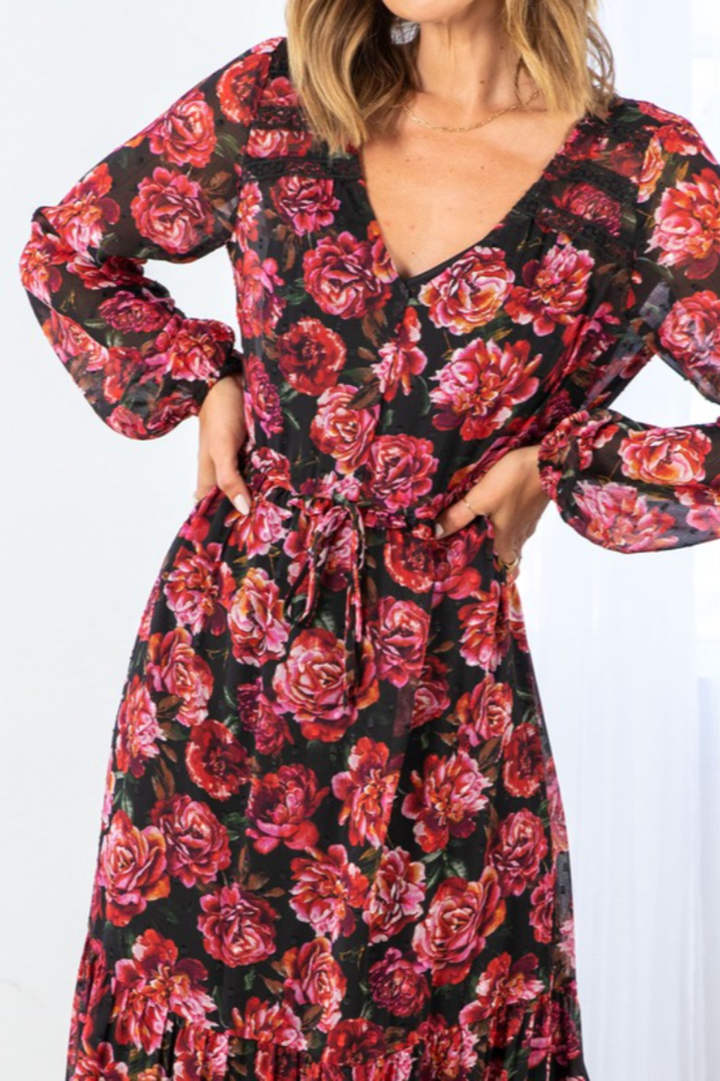 Lovestitch Fall Bloom Dress - Front Full Image