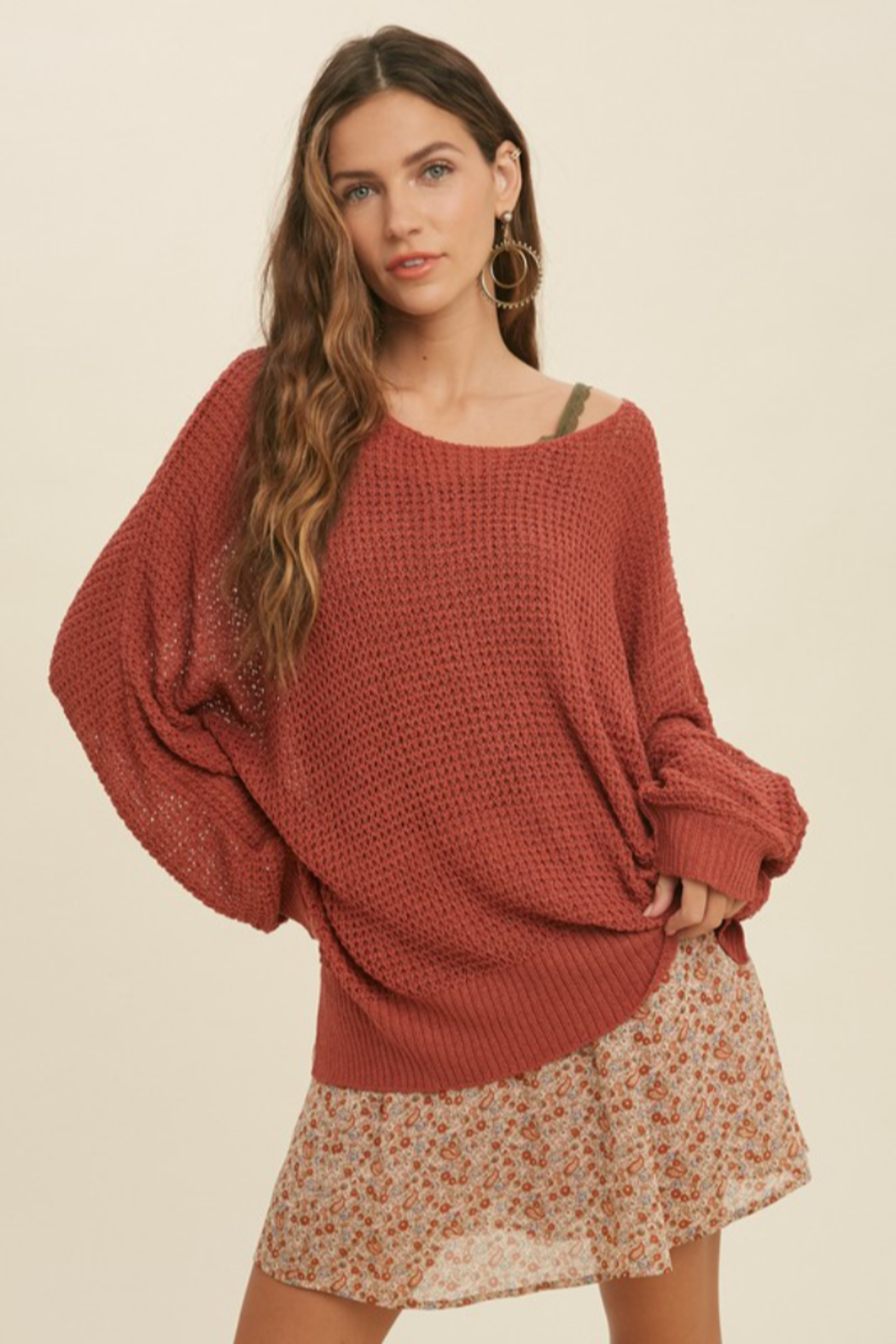 Wishlist Fall Breeze Sweater - Front Cropped Image