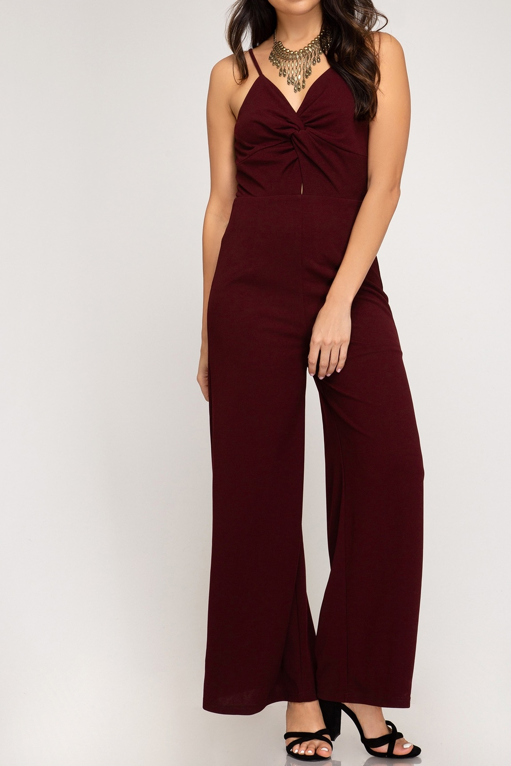 She + Sky Fall Fab Jumpsuit - Front Cropped Image