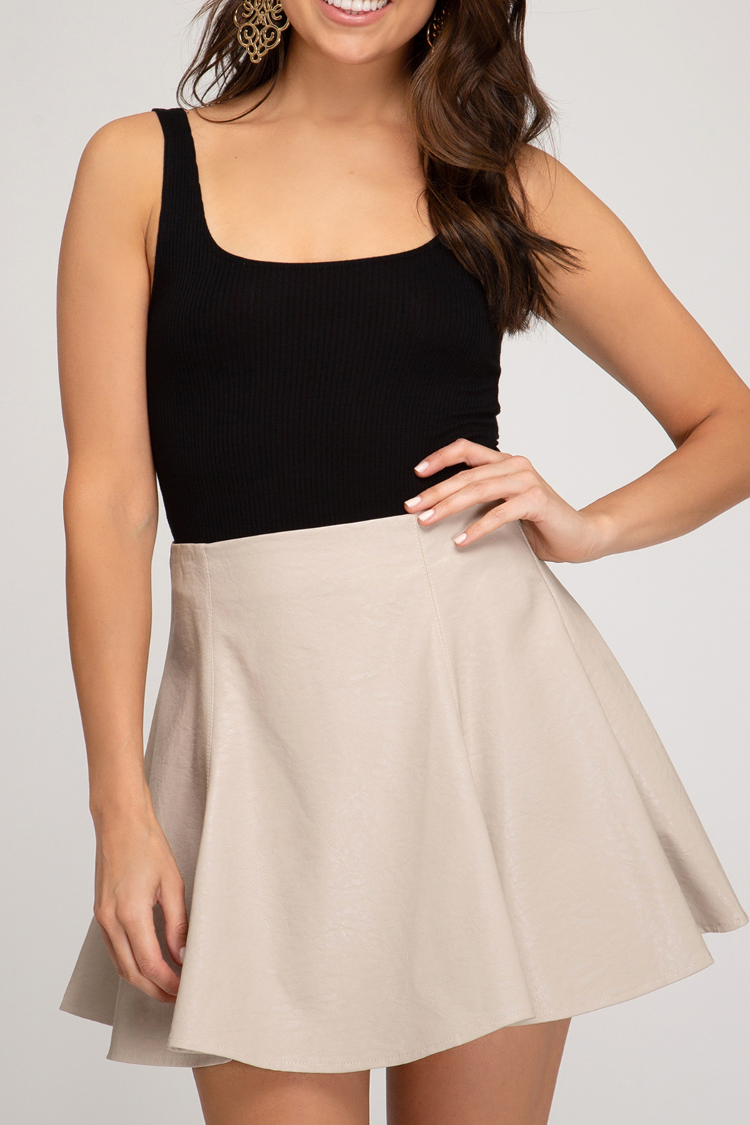 She and Sky Fall Fabulous Skirt - Front Cropped Image