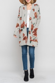 Bellamie Fall Floral Cardigan - Product Mini Image