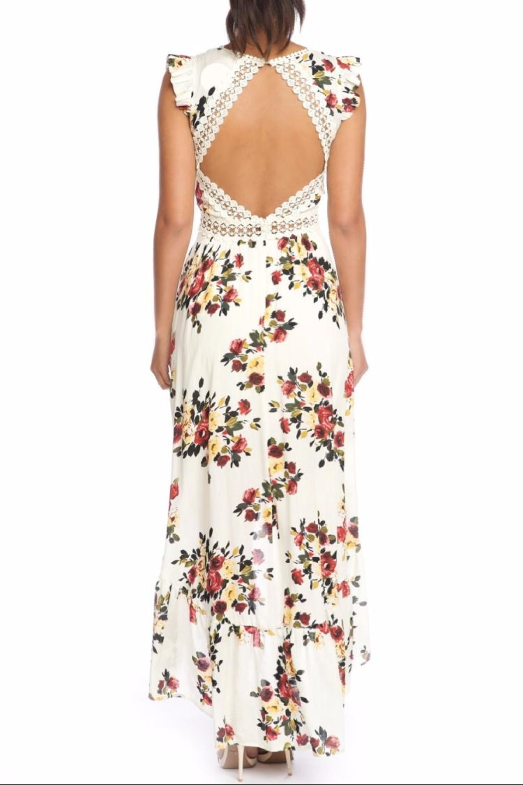 luxxel Fall Florals Maxi - Front Full Image