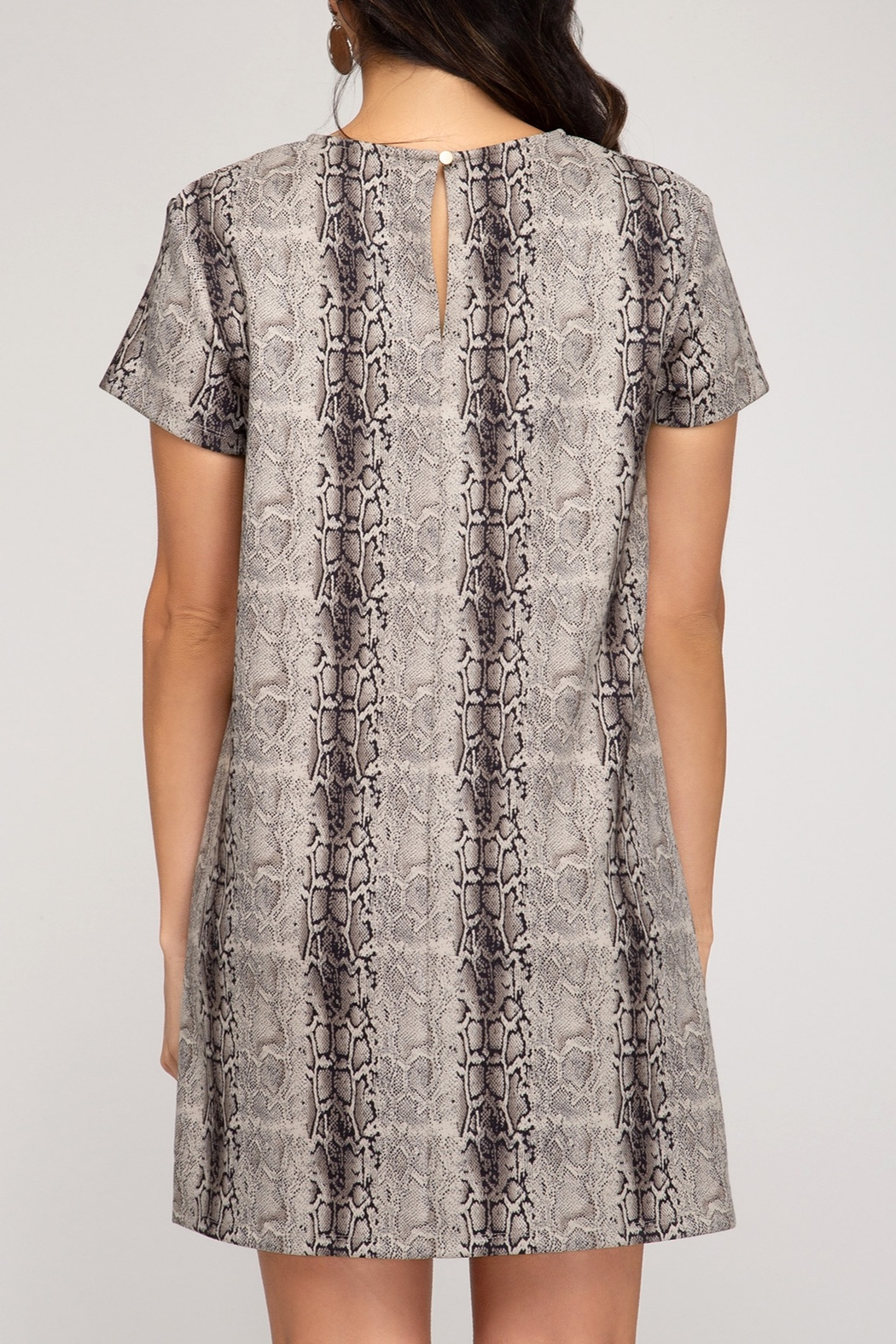 She and Sky Fall Forward Dress - Front Full Image