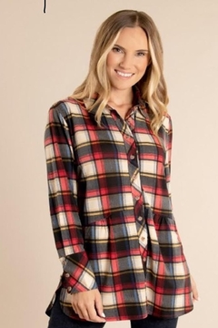 Ganz Fall In Love With This Soft Plaid Shirt With Pockets. - Alternate List Image