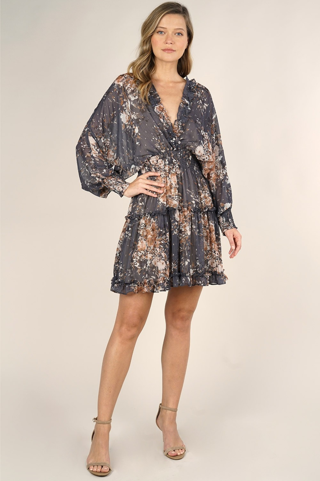 Lovestitch FALL NIGHTS DRESS - Front Full Image