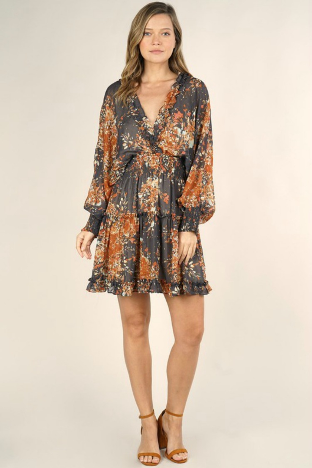 Lovestitch FALL NIGHTS DRESS - Front Cropped Image