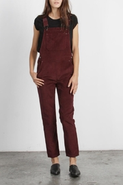 Mod Ref Fall Overalls, Burgundy - Product Mini Image