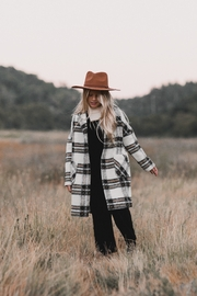 Rylee & Cru Fall Plaid Longline Coat - Product Mini Image