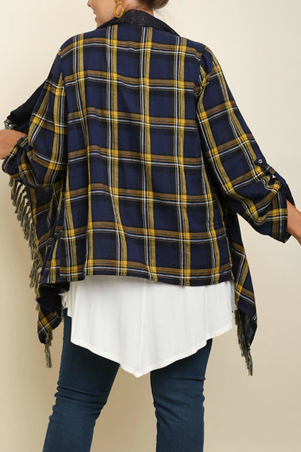 Umgee USA Fall's Perfect Cardigan - Back Cropped Image