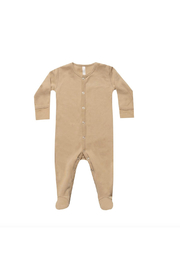 Quincy Mae Fall Snap Footie - Front cropped