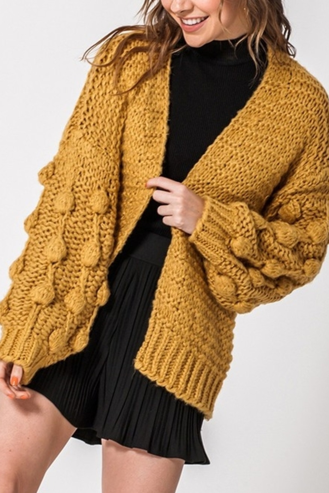 Favlux Fall Style Cardigan - Front Cropped Image
