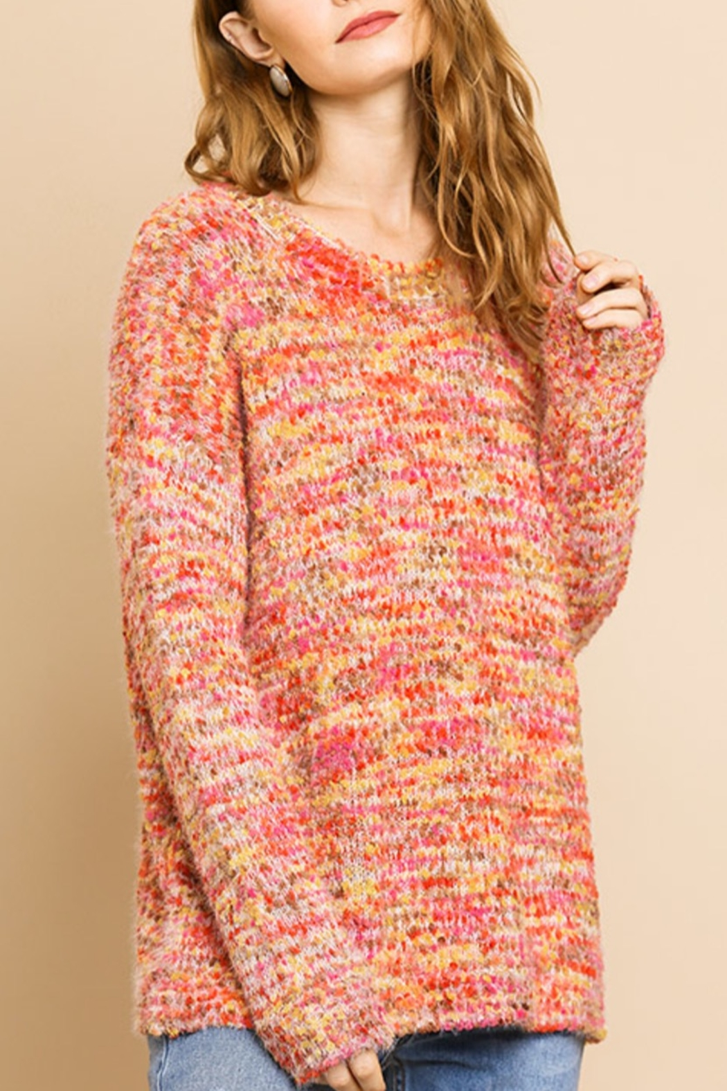 Umgee  Fall Style Sweater - Front Cropped Image