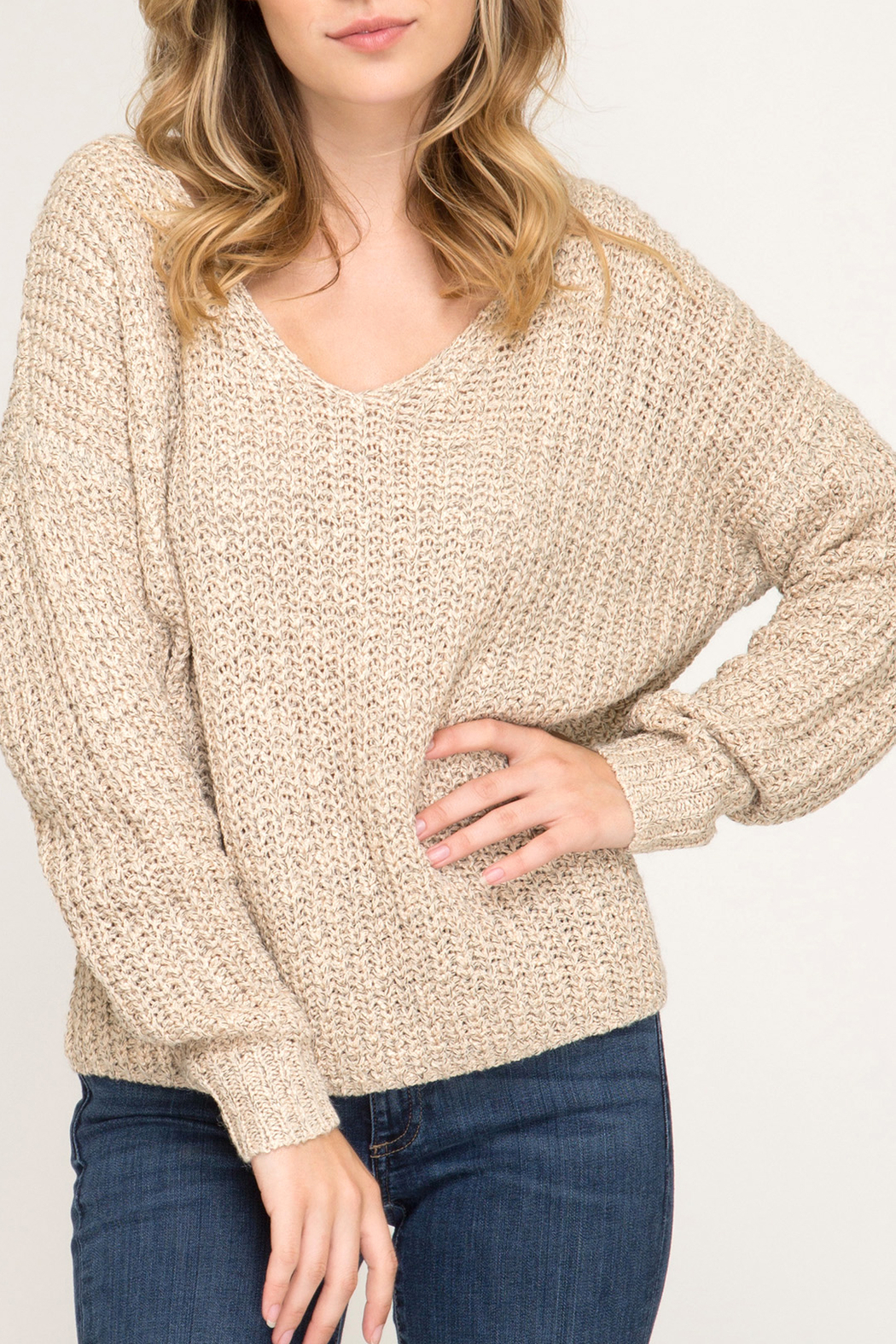 She + Sky Fall Twist sweater - Main Image