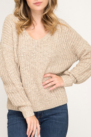 She + Sky Fall Twist sweater - Front cropped