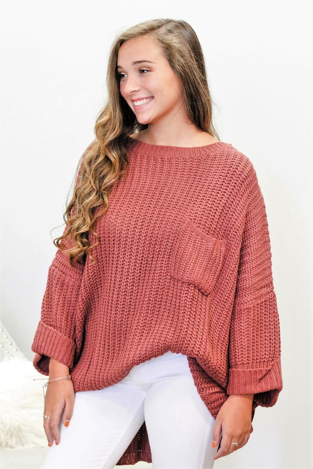 Jodifl Falling For You Sweater - Side Cropped Image