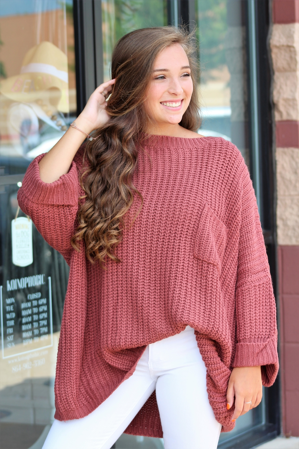 Jodifl Falling For You Sweater - Front Full Image