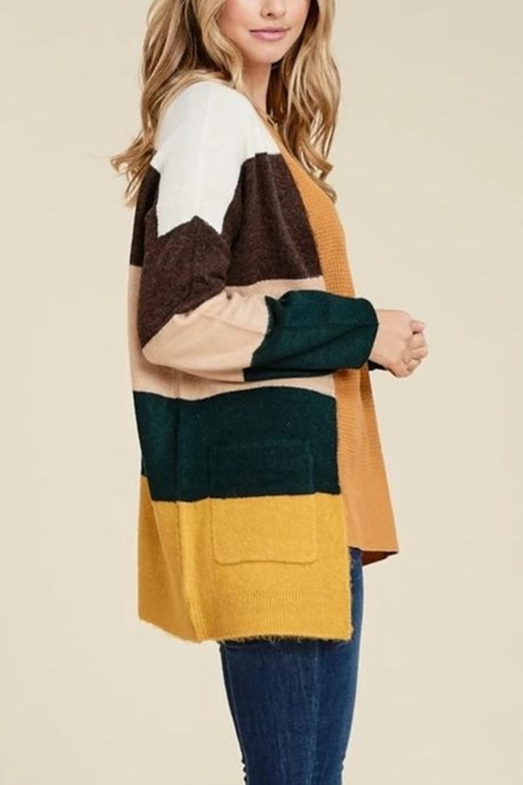Staccato Falling Into Stripes Cardigan - Front Full Image