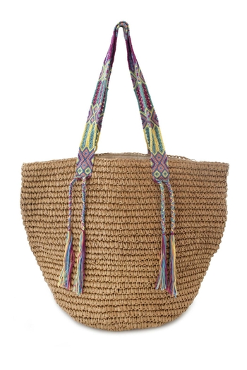 Fallon & Royce Gemma Straw Bag - Main Image