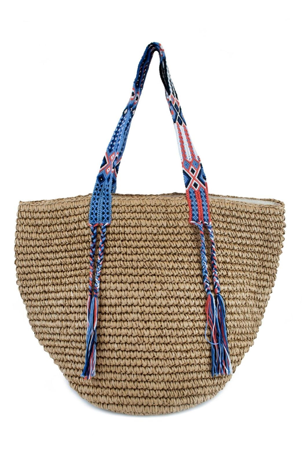 Fallon & Royce Gemma Straw Bag - Front Cropped Image