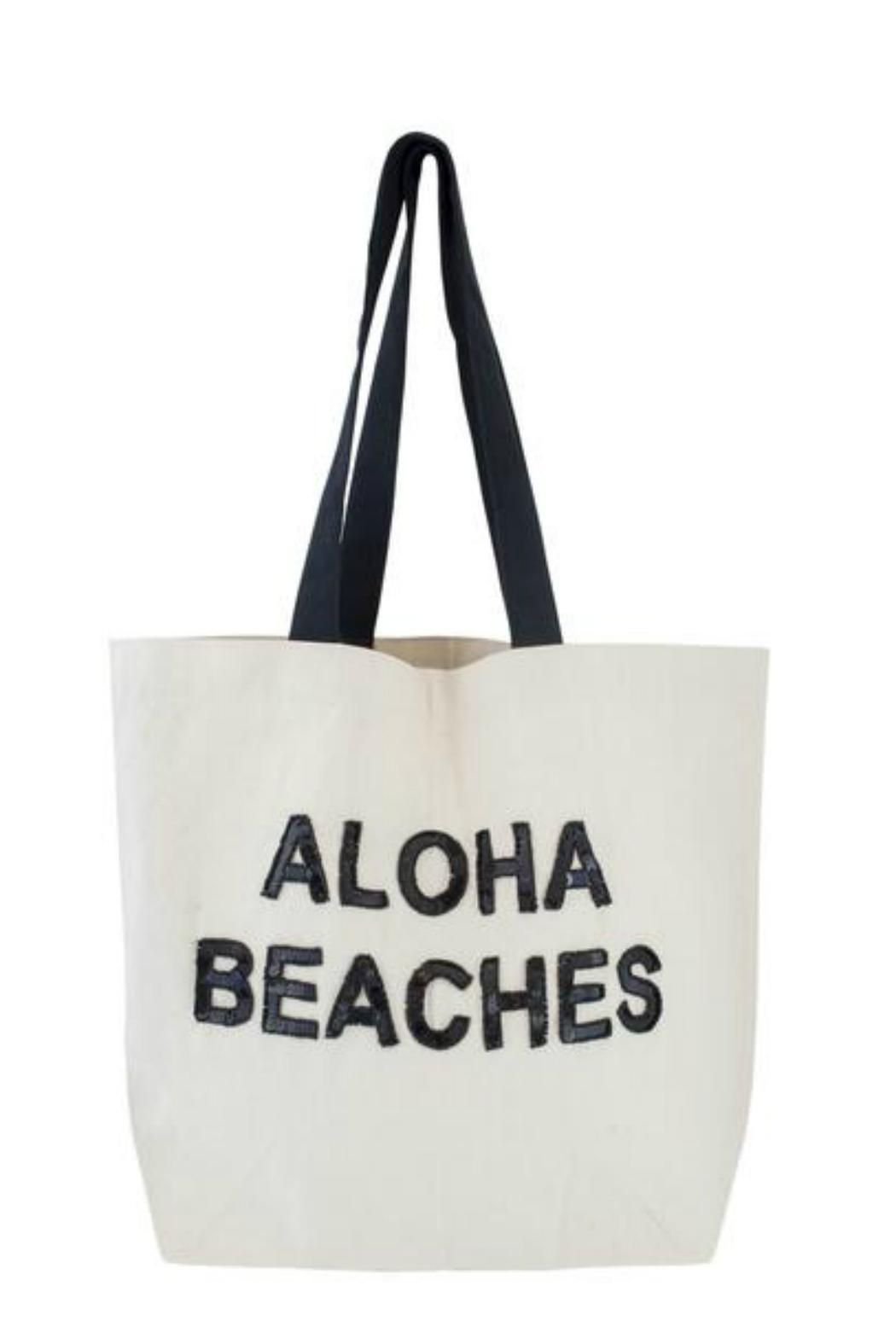 Fallon & Royce Sequin Beach Tote - Front Cropped Image