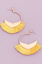 Fame Fringe Hoop Earring - Product Mini Image