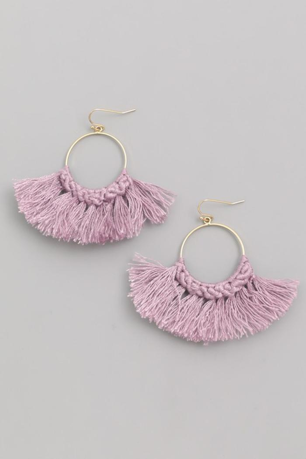 Fame Threaded Fan-Drop Earrings - Front Full Image