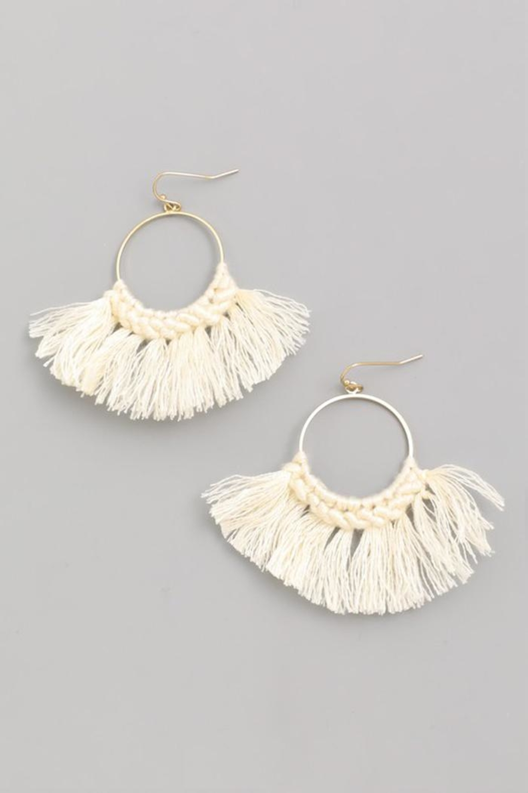 Fame Threaded Fan-Drop Earrings - Main Image
