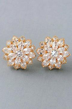 Fame Accessories Blossom Wedding Earrings - Alternate List Image