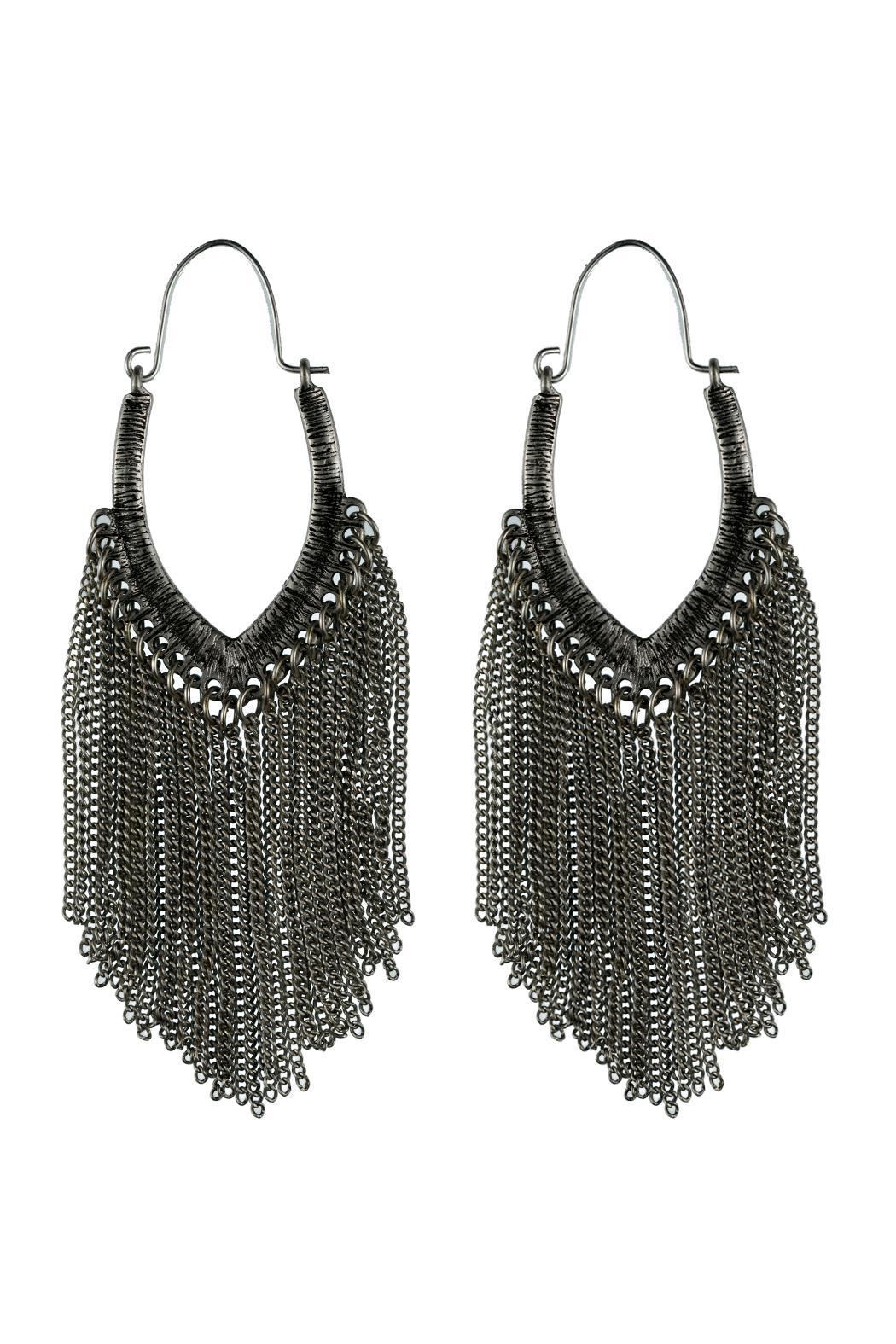 Fame Accessories Chain Hoop Earrings - Large