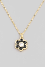Fame Accessories Chain Link Flower Pendant Necklace - Product Mini Image