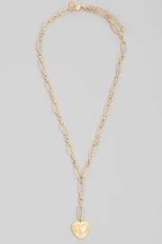 Fame Accessories Chain Link Heart Pendant Necklace - Side cropped