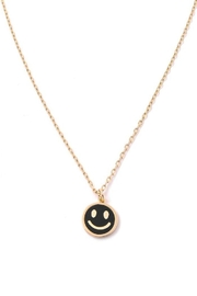 Fame Accessories Dainty Happy Face Charm Necklace - Product Mini Image