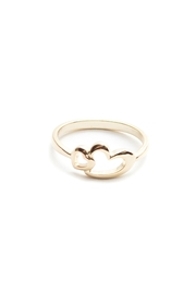 Fame Accessories Double Heart Ring - Product Mini Image