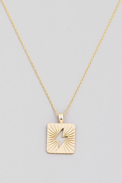 Fame Accessories Electric Lightning Bolt Necklace In Gold - Alternate List Image