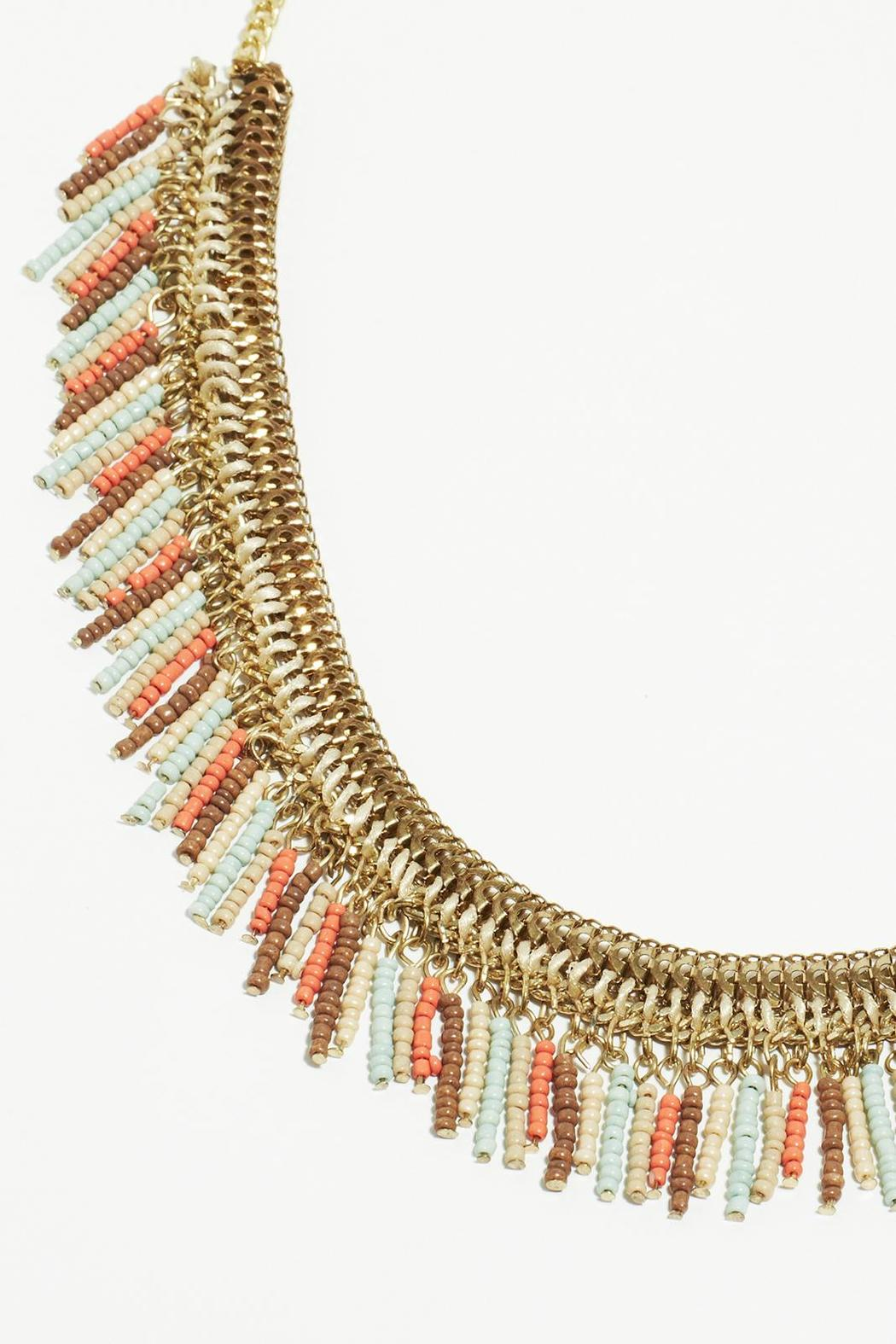 Fame Accessories Faded Fringe Necklace - Front Full Image