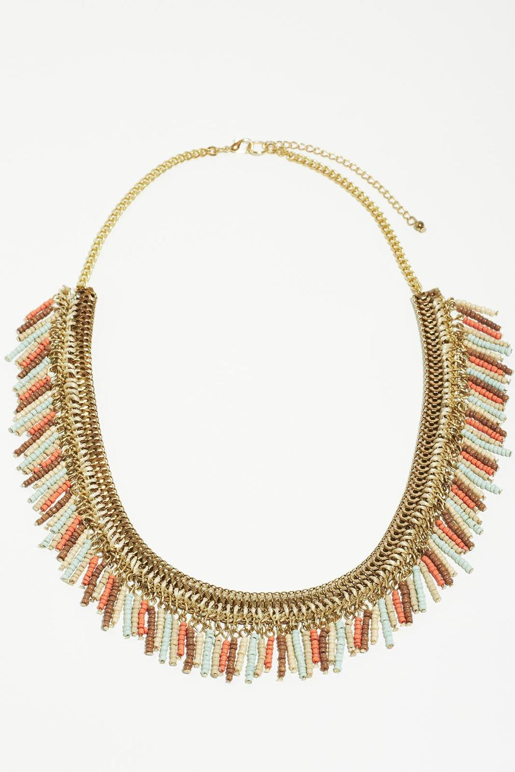 Fame Accessories Faded Fringe Necklace - Main Image