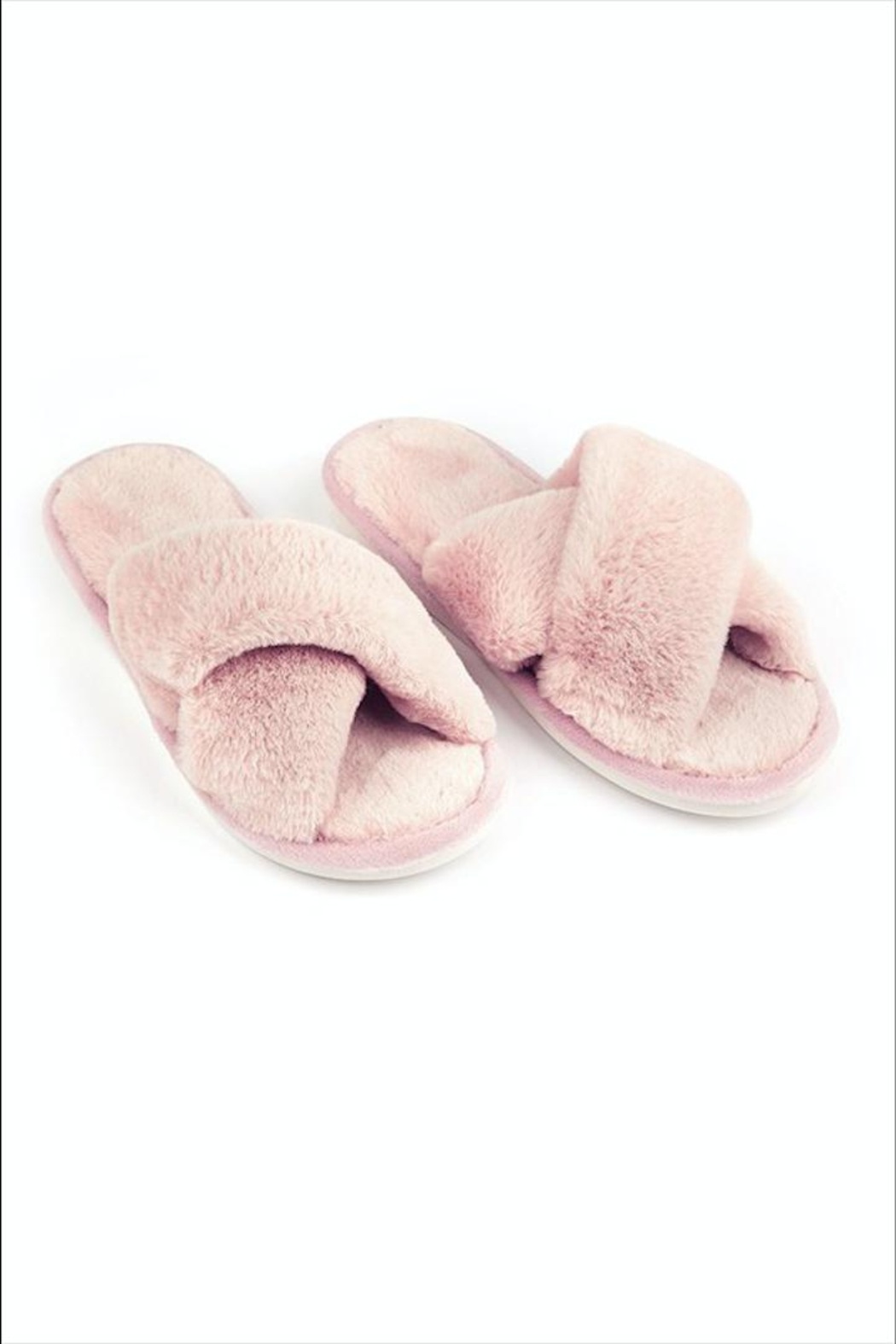 Fame Accessories Faux-Fur Open Slippers - Front Cropped Image